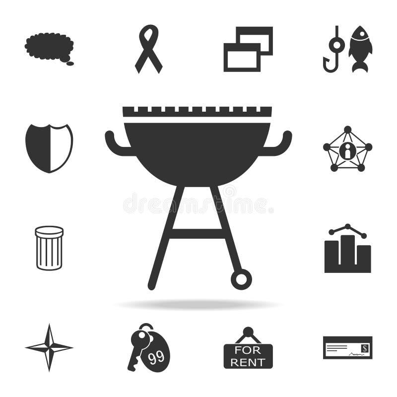 Grill-Ikone Ausführlicher Satz Netzikonen Erstklassiges Qualitätsgrafikdesign Eine der Sammlungsikonen für Website, Webdesign, Mo lizenzfreie abbildung