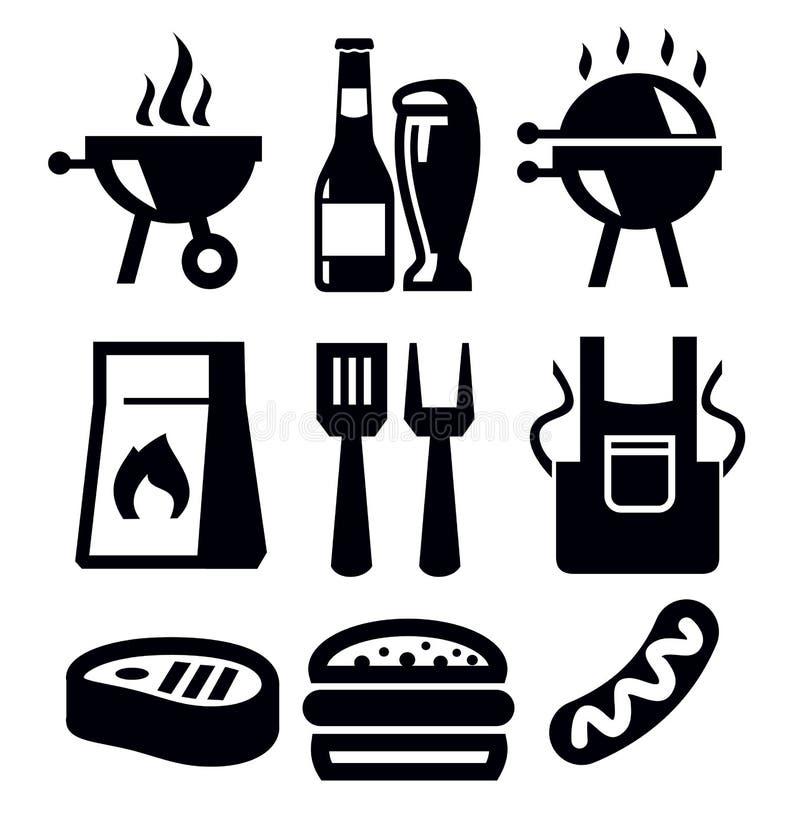 Grill ikony ilustracji