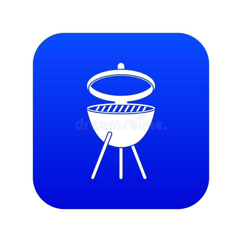 Grill ikony cyfrowy błękit ilustracji