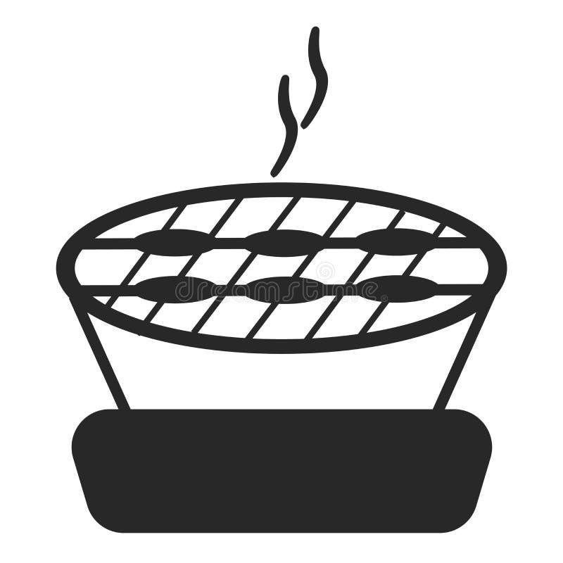 Grill ikony wektoru znak i symbol odizolowywający na białym tle, grilla logo pojęcie royalty ilustracja
