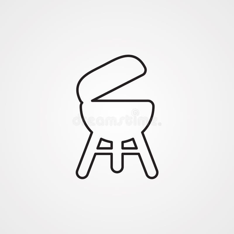 Grill ikony znaka wektorowy symbol ilustracji