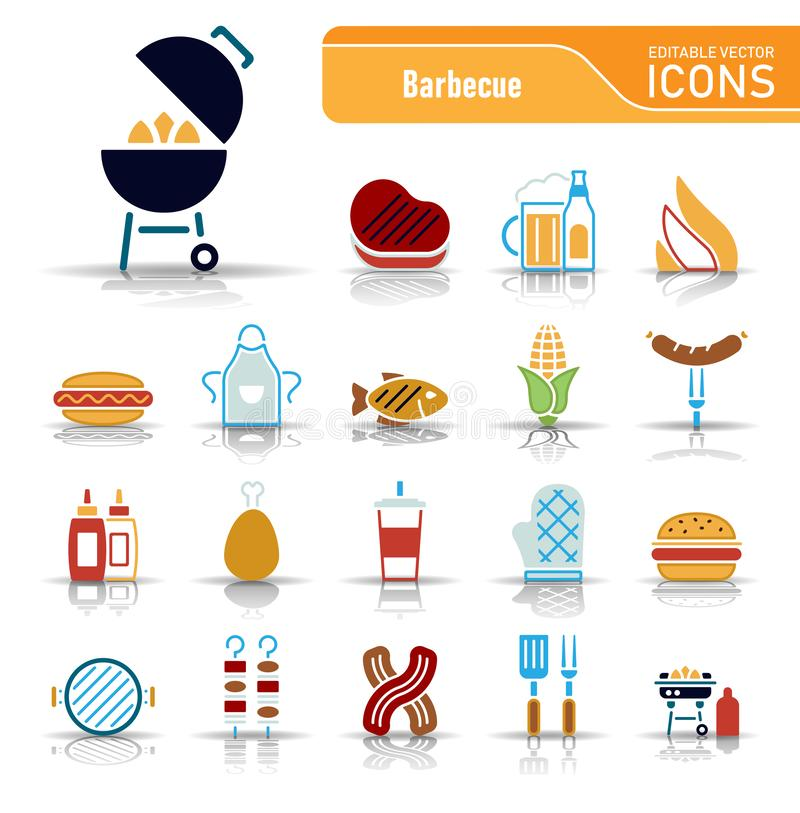 Grill & jedzenie - Iconset ikony ilustracji