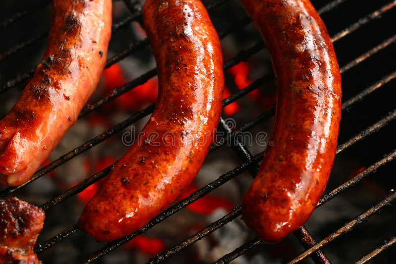 grill kiełbasa zdjęcia royalty free