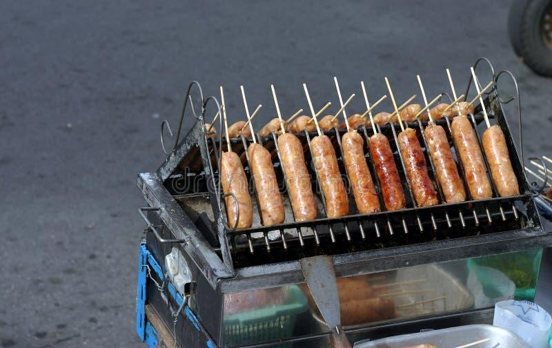 grill kiełbaski obraz stock