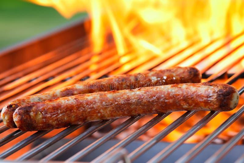 Download Grill kiełbasy obraz stock. Obraz złożonej z jedzenie - 25404571