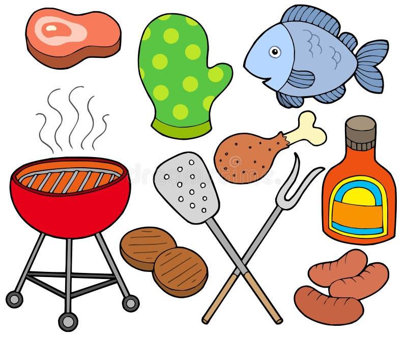 grill kolekcja ilustracja wektor