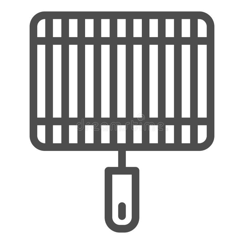 Grill kreskowa ikona Grill wektorowa ilustracja odizolowywająca na bielu Fryer konturu stylu projekt, projektujący dla sieci i ap ilustracji