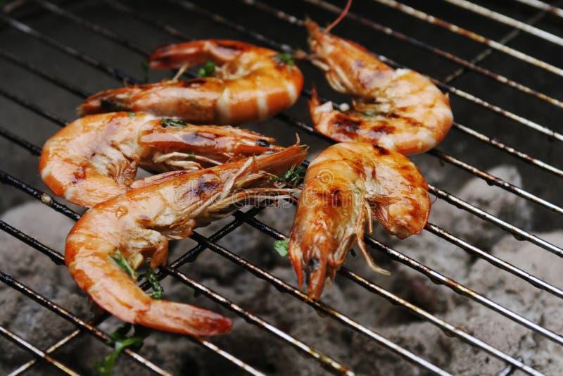 grill krewetek. zdjęcia royalty free