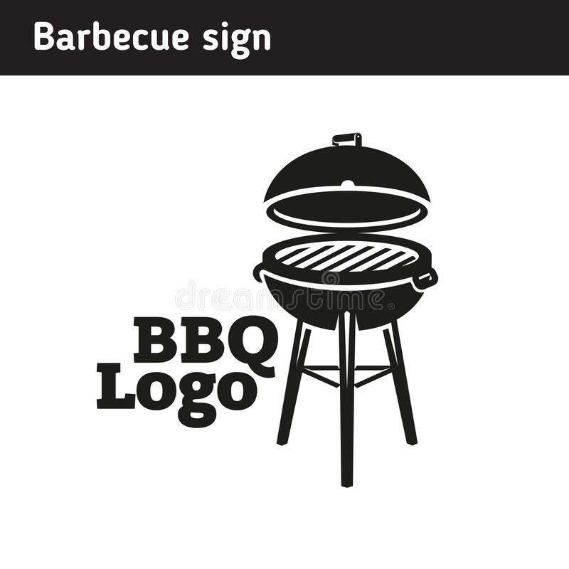 Grill logo in full size, barbecue royalty free illustration