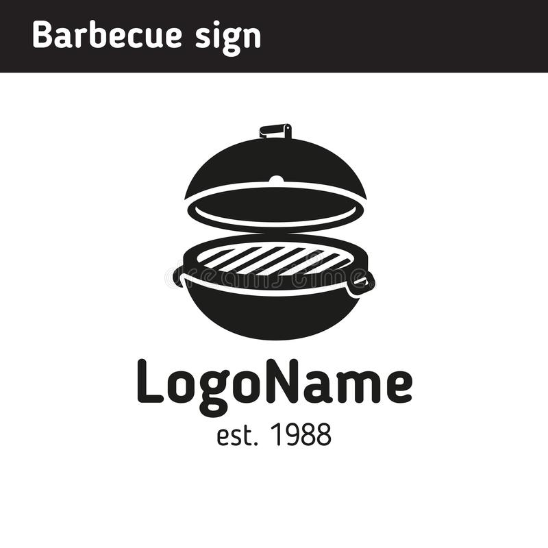 Grill logo in full size, barbecue vector illustration