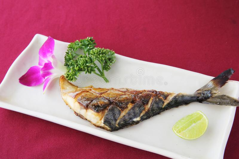 Grill Mackarel fish , japanese food stock photo