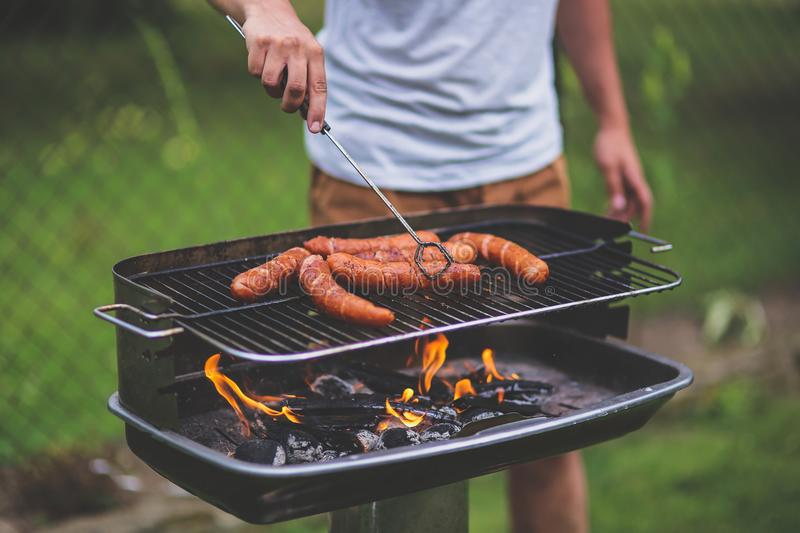 The grill man stock image