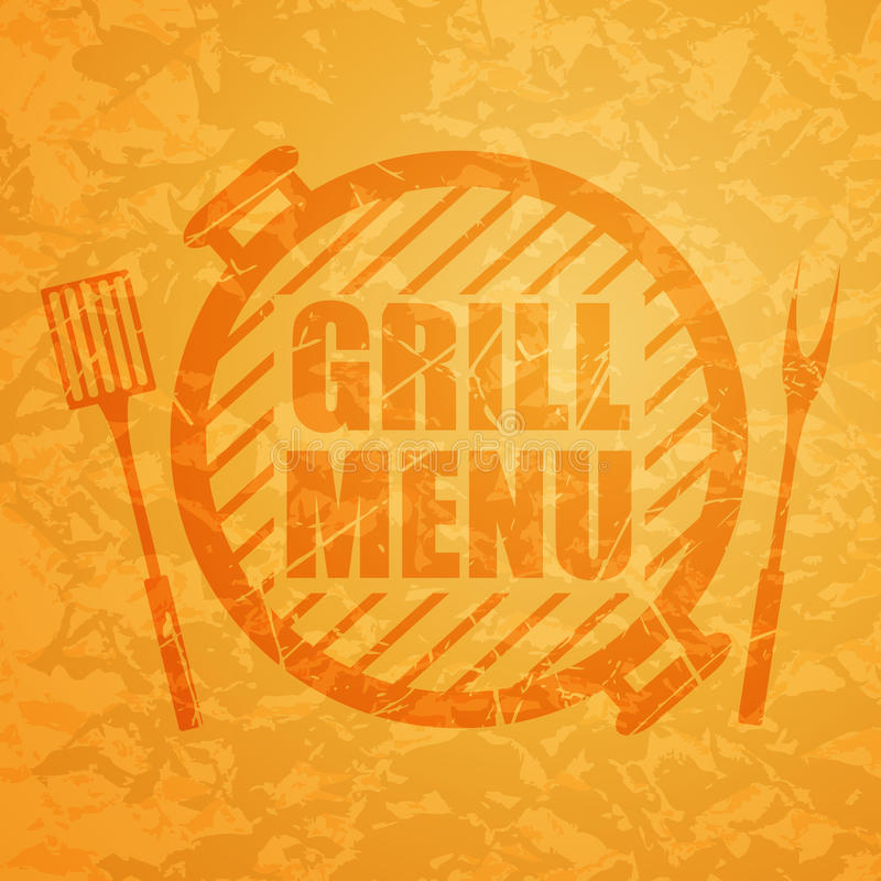 Grill-Menü-Entwurfs-Schablone stock abbildung