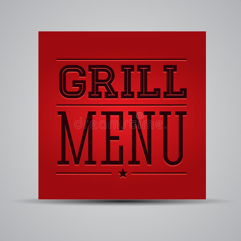 Download Grill menu stock vector. Image of grill, meat, barbecue - 26729746