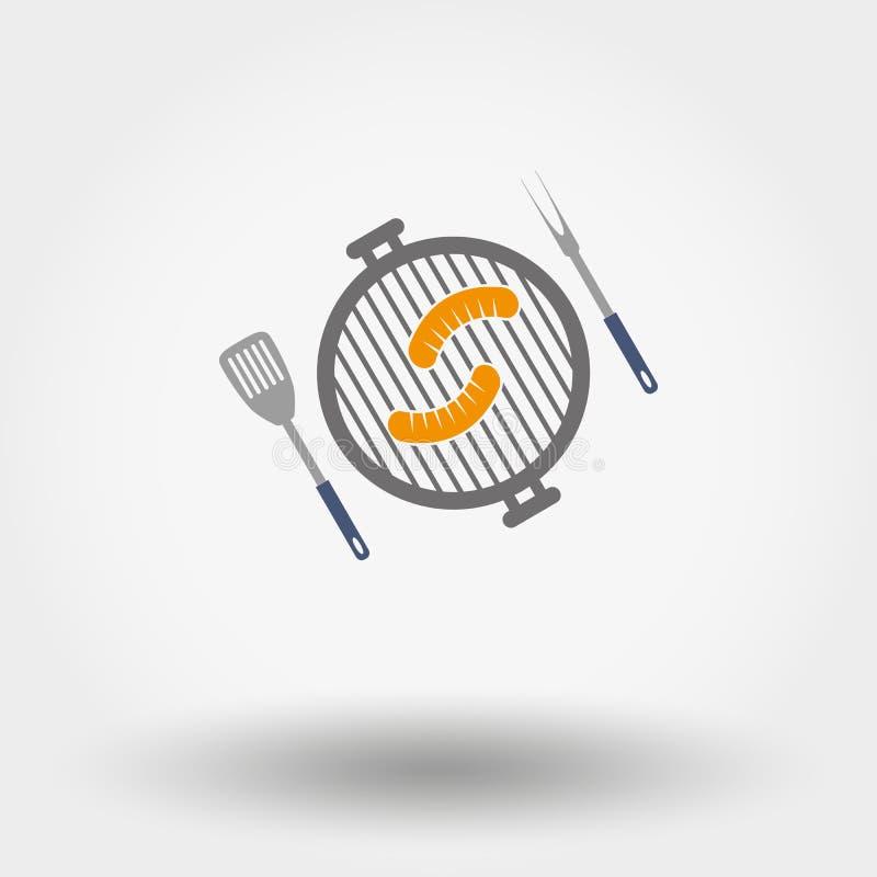 Grill menysymbolet vektor illustrationer