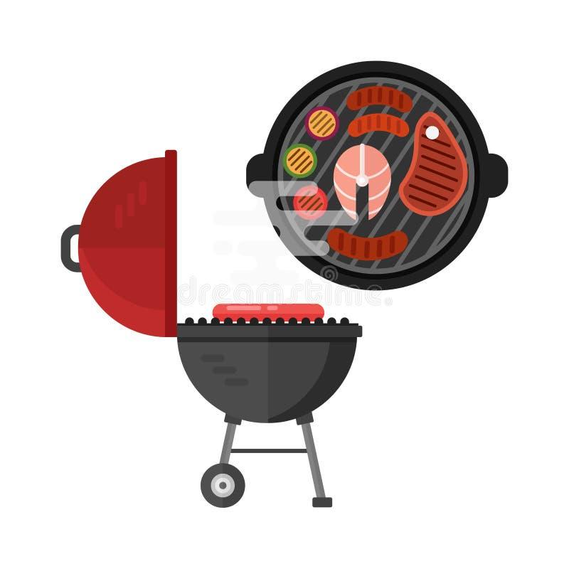 Grill mięsna wektorowa ilustracja ilustracja wektor