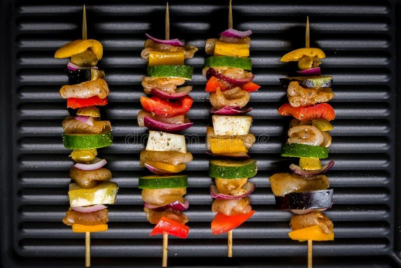 Grill na elektrycznym grillu zdjęcia royalty free