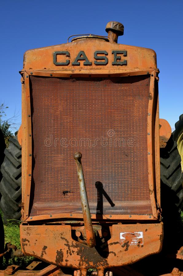 Free Grill Of An Old Case Tractor Royalty Free Stock Photography - 78898907
