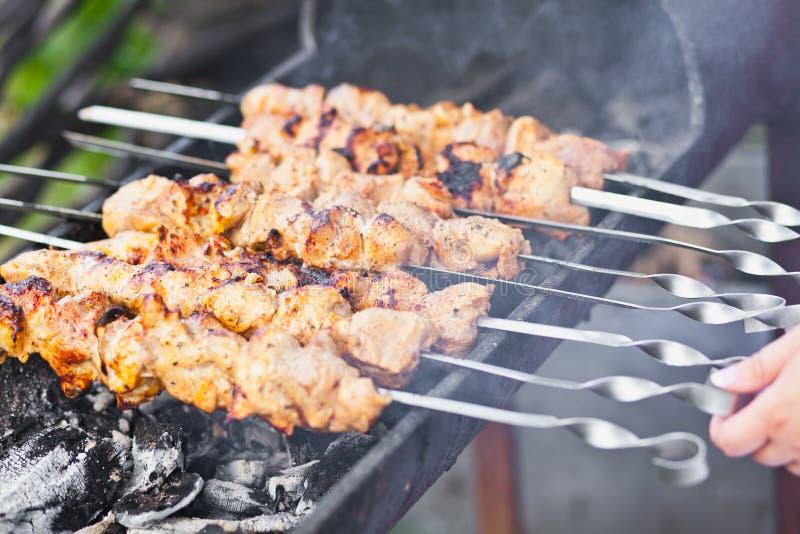 Grill op de grill royalty-vrije stock afbeelding