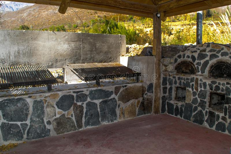 The grill in open air stock images