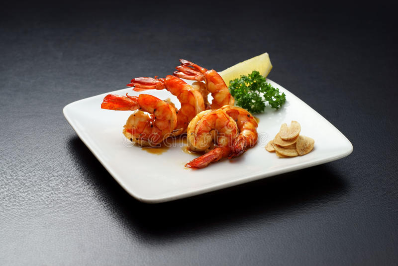 Grill Prawn stock photography