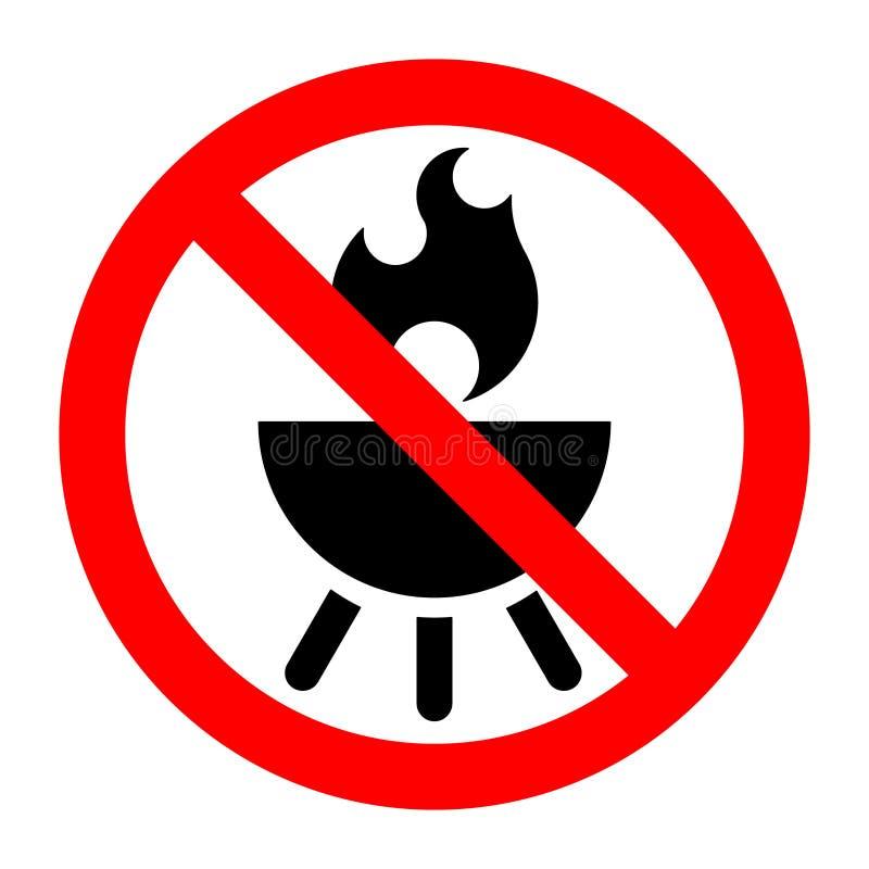 Grill prohibicji przerwa zakazujący znak ilustracji