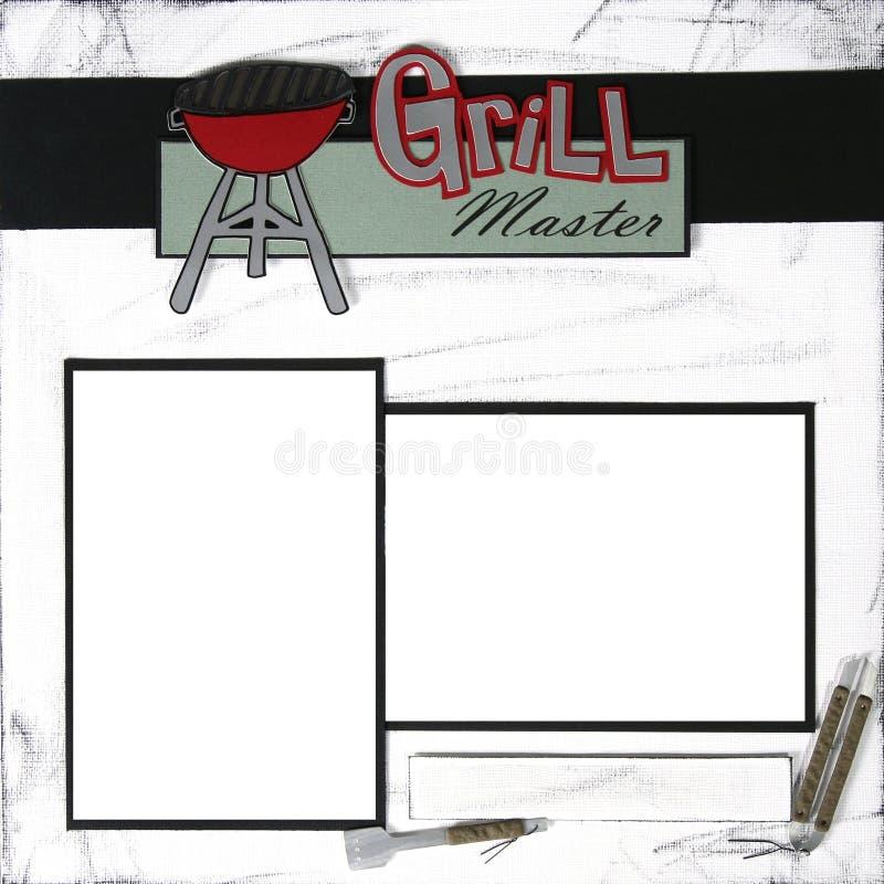 grill ramowy mastergrill szablon masterscrapbook ilustracji
