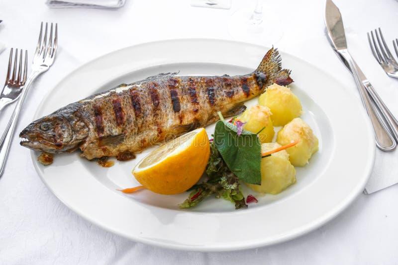 Grill ryba fotografia royalty free