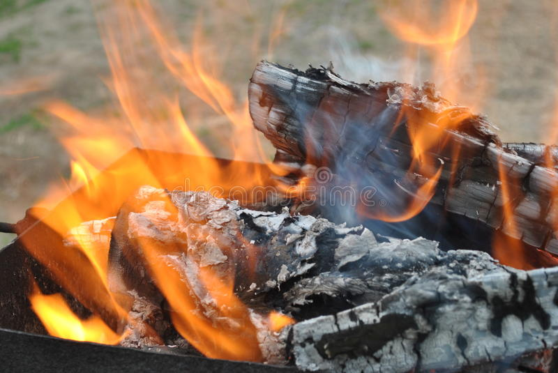 Grill's fire stock image