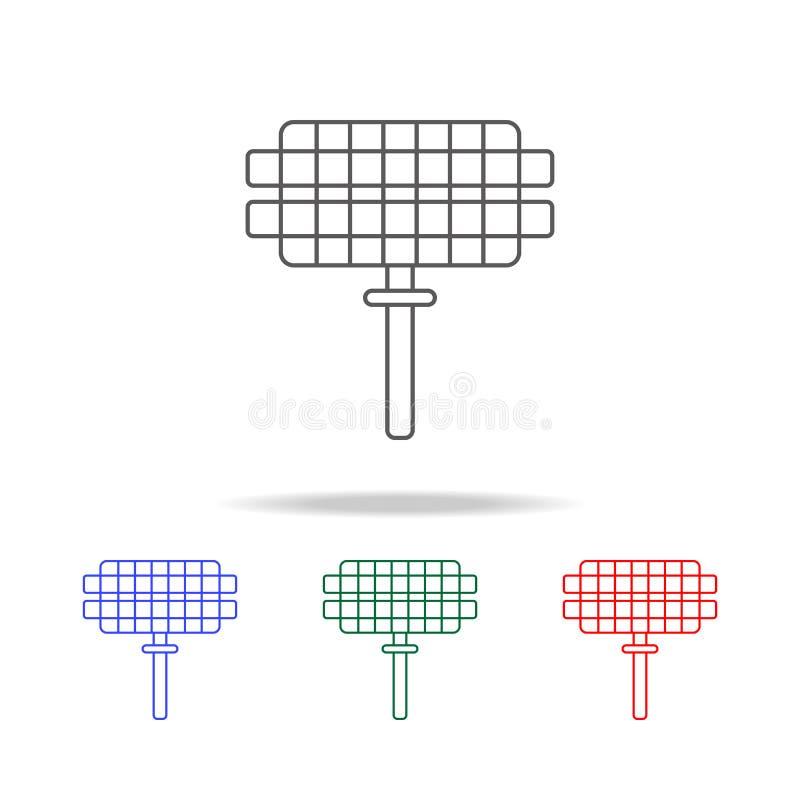 Grill siatki ikona Elementy w wielo- barwionych ikonach dla mobilnych pojęcia i sieci apps Ikony dla strona internetowa projekta  ilustracji