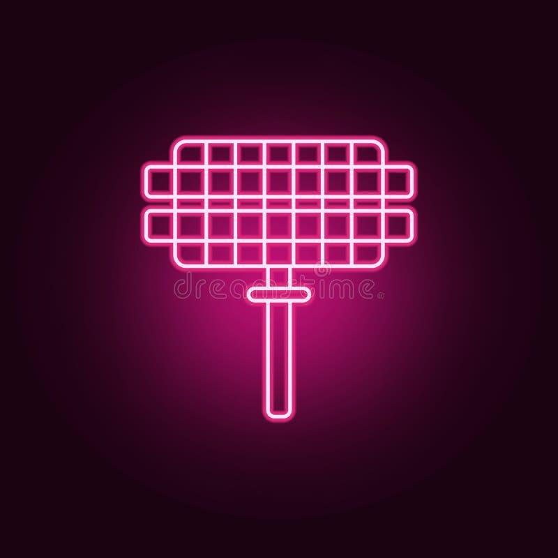 Grill siatki neonowa ikona Elementy sie? set Prosta ikona dla stron internetowych, sie? projekt, mobilny app, ewidencyjne grafika royalty ilustracja