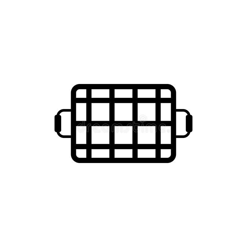 Grill siatki Płaska Wektorowa ikona ilustracji
