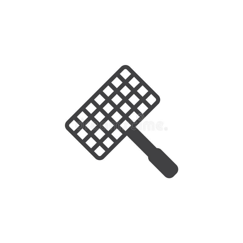 Grill, grill siatki wektoru stalowa ikona ilustracji