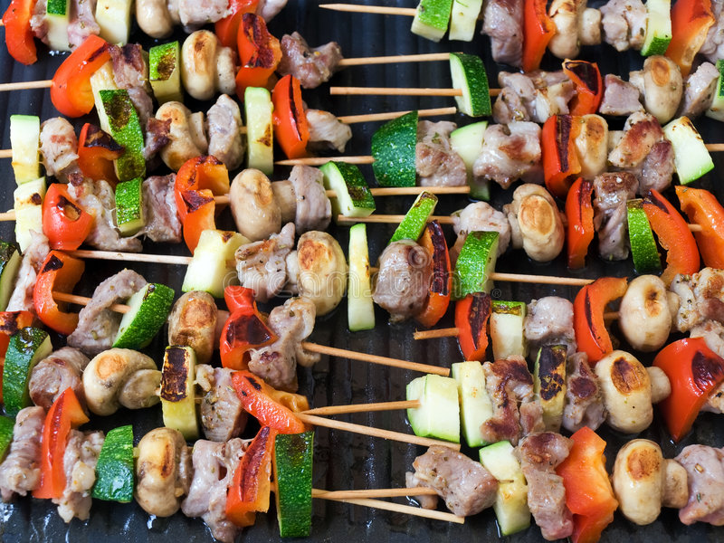Grill sticks stock images