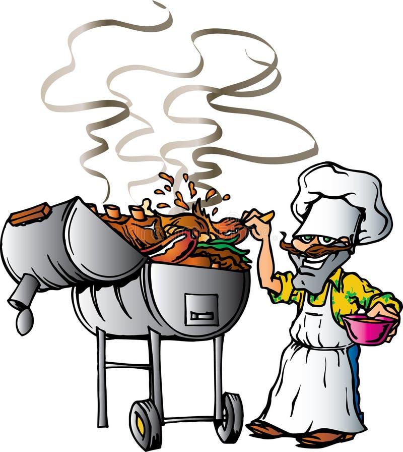 grill Teksas ilustracji