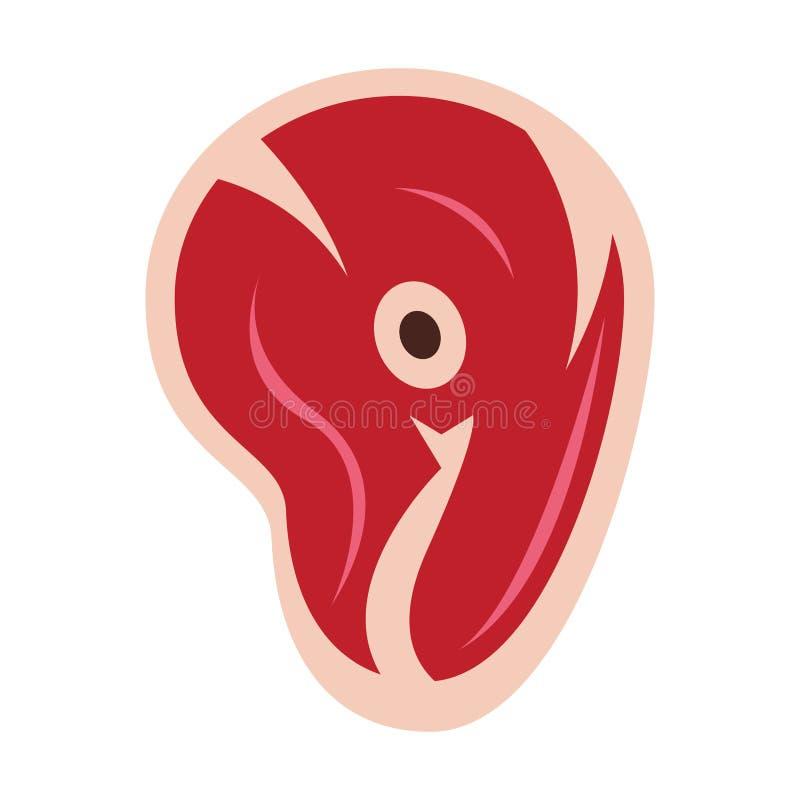 Grill wołowiny cięcie odizolowywający mięsny jedzenie ilustracja wektor