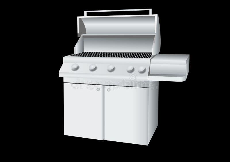 grill ze stali nierdzewnej royalty ilustracja