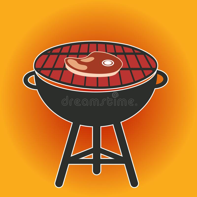 Grilla BBQ Cookout wektoru ilustracja ilustracji