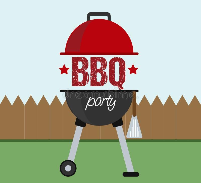 Grilla BBQ przyjęcia zaproszenia pojęcie ilustracji