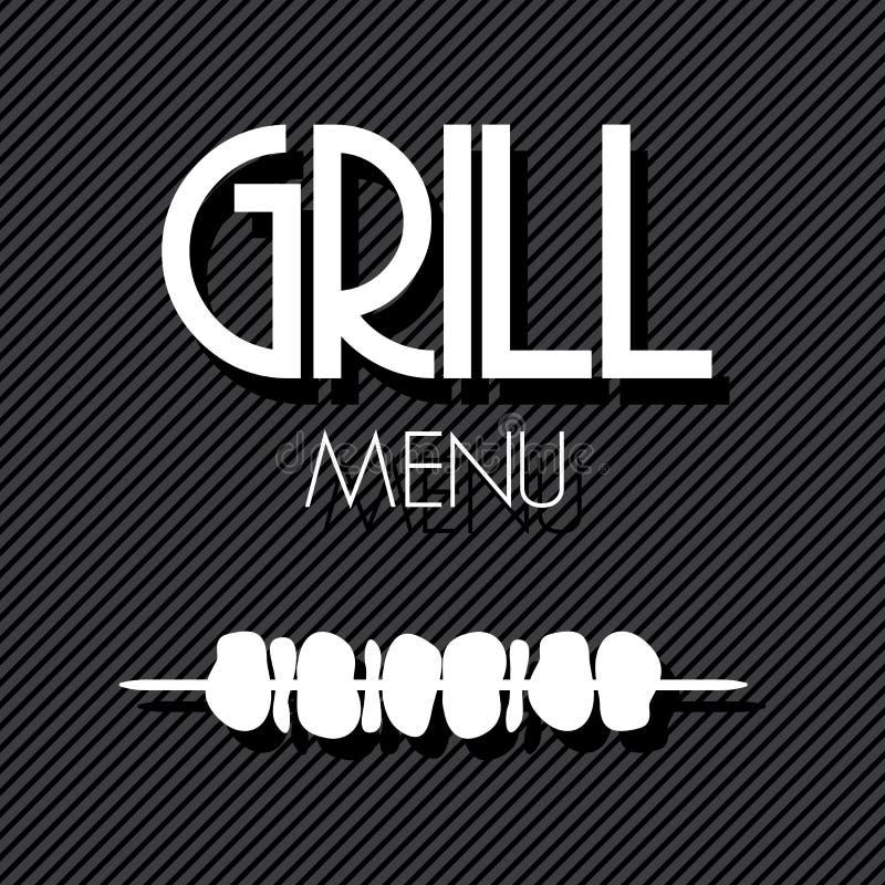 Grilla grill ilustracji
