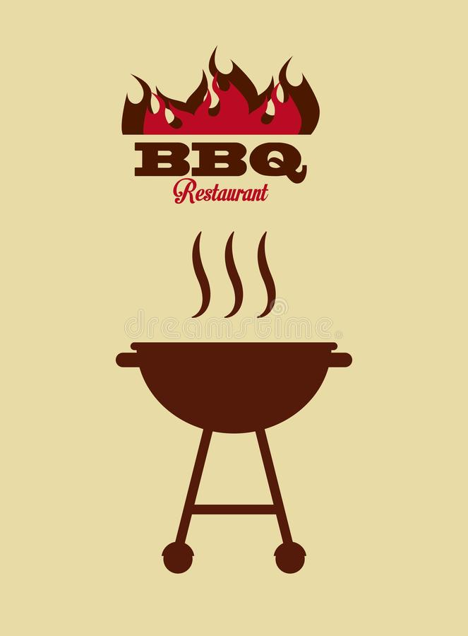Grilla grilla ikona royalty ilustracja