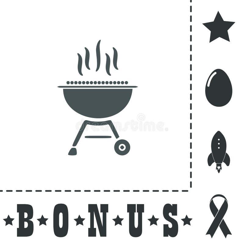 Grilla grilla menu ikony wektoru ilustracja ilustracja wektor