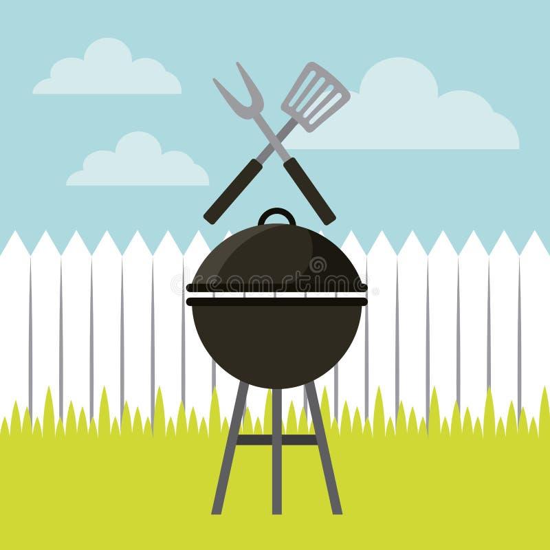 grilla grilla projekt ilustracji