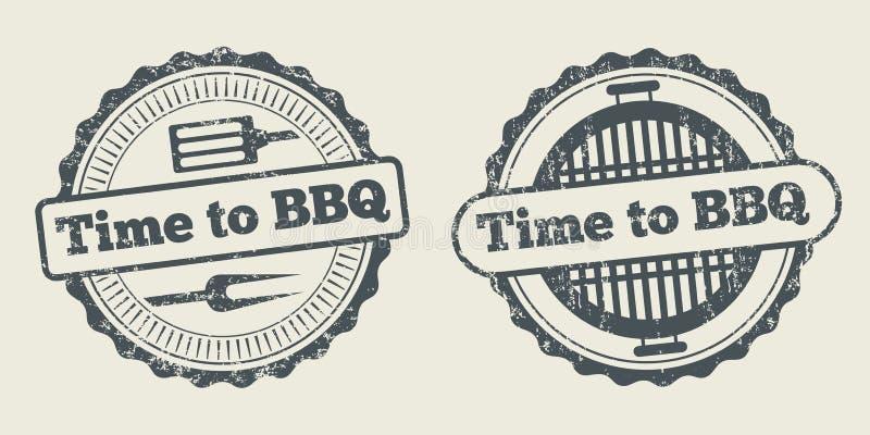 Grilla i grilla etykietki steakhouse restauracyjny menu projektuje wektorowego element ilustracja wektor