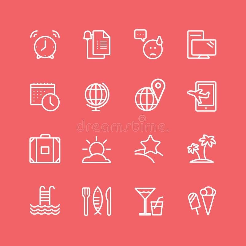 Grilla i jedzenia ikon wektoru przedmioty ustawiający ilustracja wektor