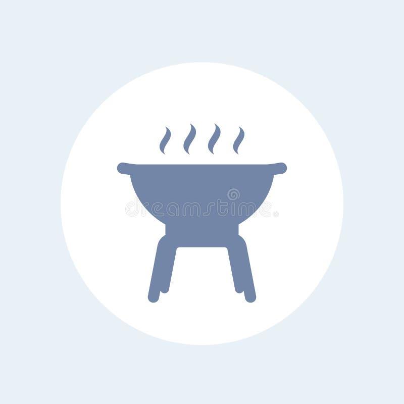 Grilla grilla ikona ilustracja wektor