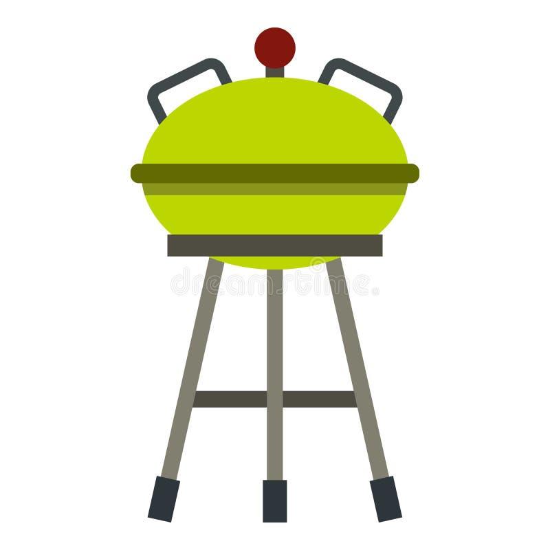 Grilla grilla ikona, mieszkanie styl royalty ilustracja