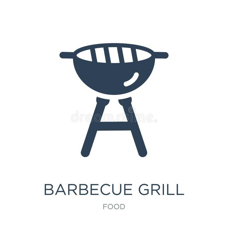 grilla grilla ikona w modnym projekta stylu grilla grilla ikona odizolowywająca na białym tle grilla grilla wektorowa ikona prost ilustracja wektor
