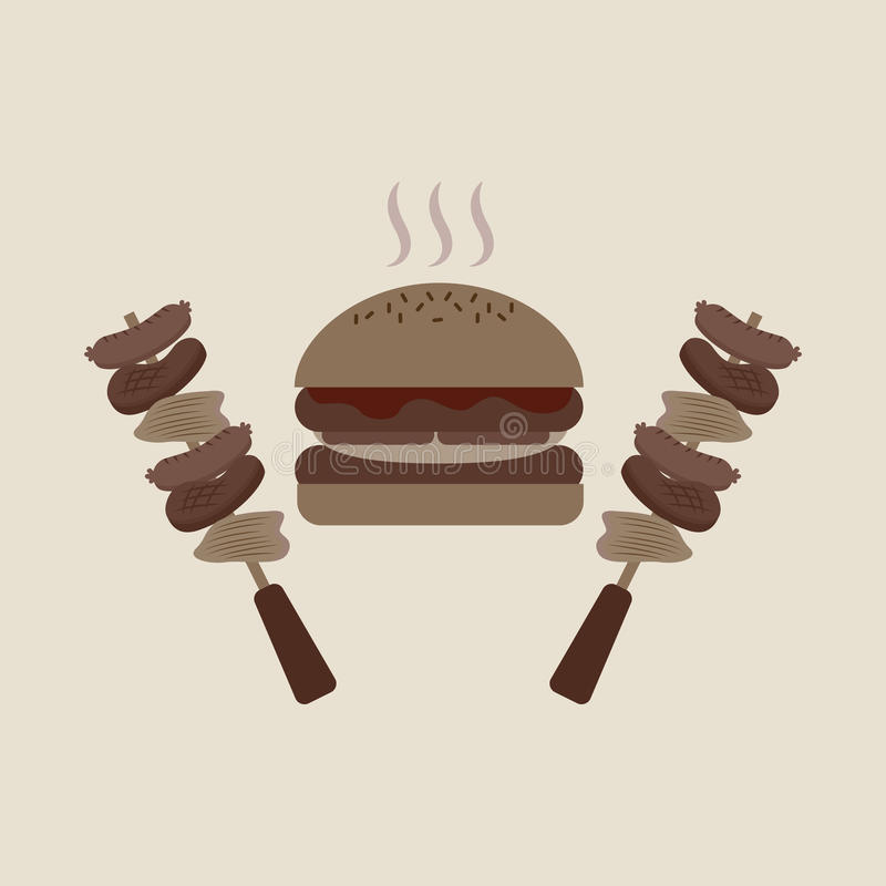 grilla karmowy projekt ilustracja wektor
