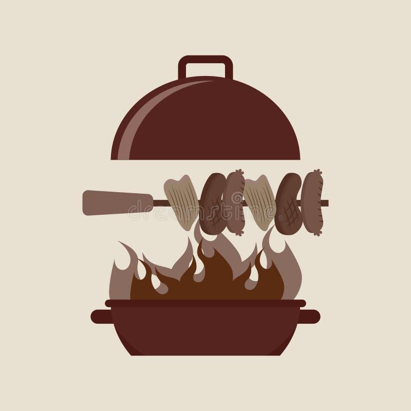 grilla karmowy projekt ilustracji